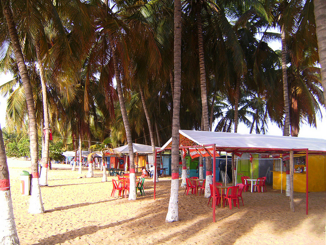 A small restaurant on a beach in beautiful Venezuela.