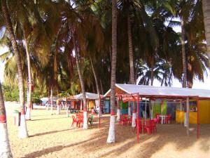 A small restaurant on a beach in beautiful Venezuela.